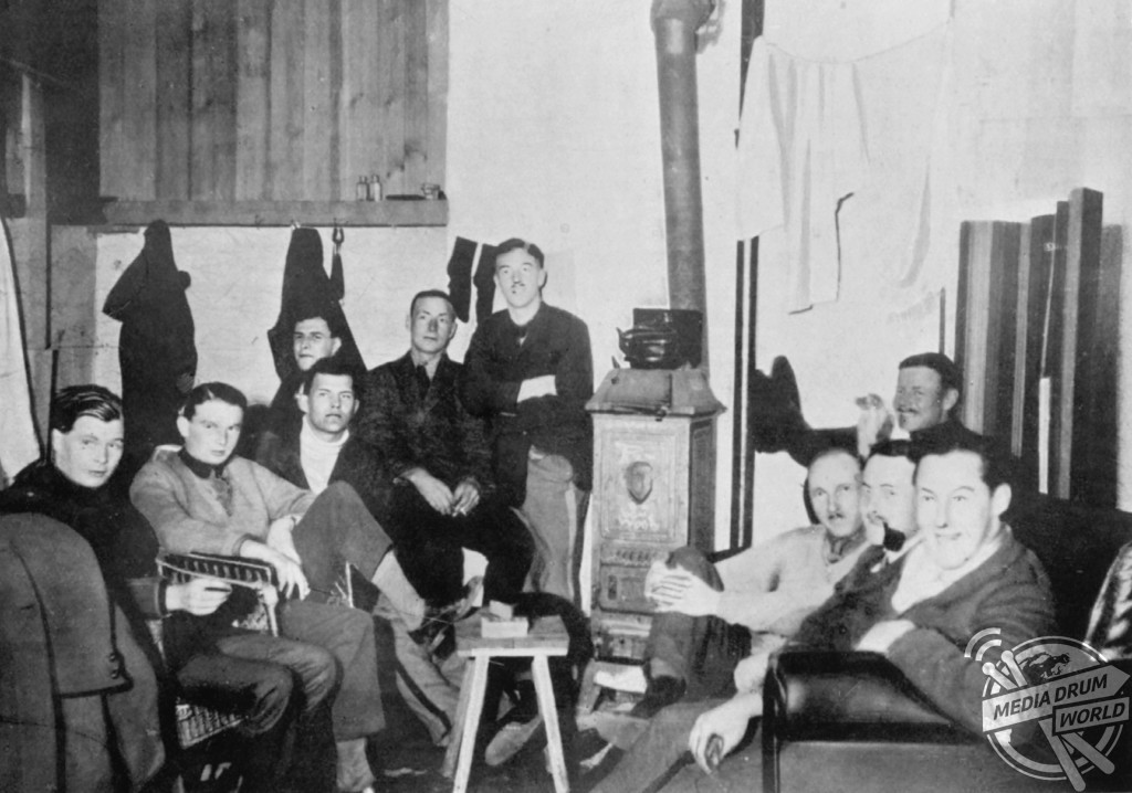 Escapers all, recaptured officers in a room at Holzminden. Left to Right: Churchill, Lyon, Clouston, Robertson, Sharp, Bennet and Matlock.  Rachel Bilton / mediadrumworld.com