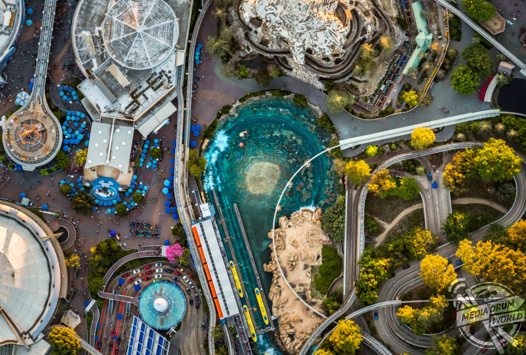 Magical Aerial Images Show A Sky View Of Disneyland And